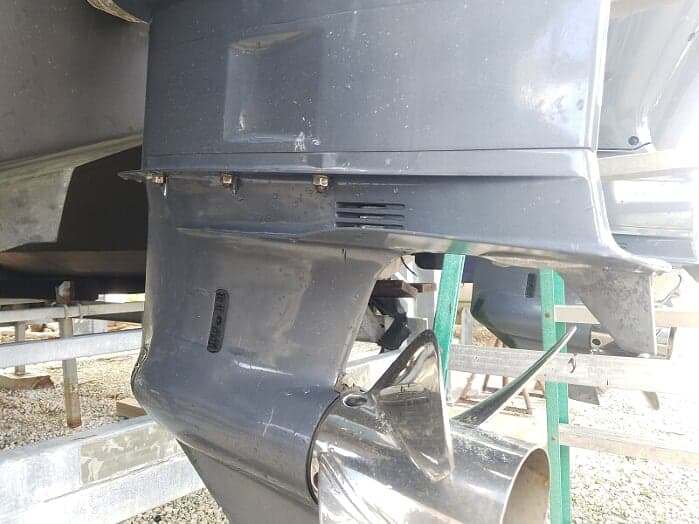 outboard motor lower unit is bad